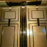 Rose Gold Mirror guarnição de mármore de aço inoxidável para o restaurante do Hotel