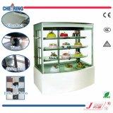 Luxus alles transparente Glas und vertikale Kuchen-Bildschirmanzeige-Schaukasten