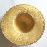Chapéu Brimmed grande personalizado da praia do verão das mulheres da promoção (HW08)