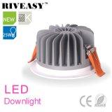 diodo emissor de luz de fundição Downlight do alumínio 25W com Ce&RoHS