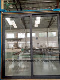 Раздвижная дверь алюминия пролома Tempered стекла двойника верхнего качества Woodwin термально