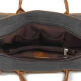 ファッション・デザイナーのキャンバスのノートの余暇の革は整えるキャンバスのラップトップ袋(RS-2012)を