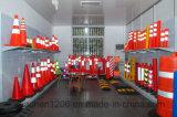 Jiachen cône vert de circulation de PVC de 18 pouces pour la sécurité routière et l'usage de construction