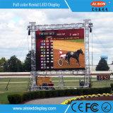 Hohes Miete LED-Bildschirmanzeige-Panel der Präzisions-P4.81 im Freien