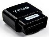 O carro TPMS com 4 sistema de vigilância solar TPMS da pressão de pneumático da barra do LCD libras por polegada quadrada dos sensores externos utiliza ferramentas a pressão de pneu da ferramenta diagnóstica