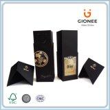 Caja de embalaje de vinos de cartón duro impreso personalizado