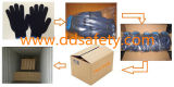 Ddsafety 2017 Blue PVC Dotted Safety Cotton Gloves