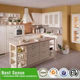 Gabinete de cozinha de madeira da melhor mobília moderna da venda
