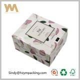 Caja de papel 300GSM blanca de cartón caja del paquete de la caja de regalo para los cosméticos