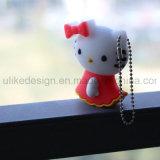 Hello Kitty colorida unidad Flash USB para la promoción (UL-PVC001)