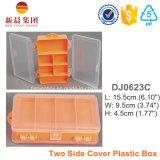 Contenitore organizzato plastica di coperchio laterale due