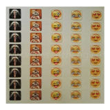 Удалите Водостойкий красочной площади PU эпоксидной смолы купольные Emoji наклейки