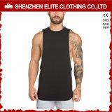 Men's Fitness prendas de vestir de moda de poliéster algodón camiseta de tirantes (ELTVI-7)