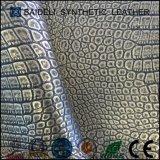 Tessuto metallico del vinile di disegno del coccodrillo per la tappezzeria della mobilia e la signora Bags