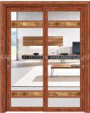 portas deslizantes de alumínio grossas de vidro Tempered de 5mm