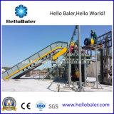 Давление неныжной бумаги Hellobaler автоматическое гидровлическое тюкуя с транспортером