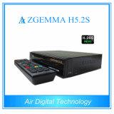 Récepteur de télévision par satellite Zgemma H5.2s avec support de récepteur DVB-S2 Dual Core Hevc / H. 265