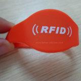 Bandas de pulso de silicone RFID impermeáveis para praia