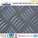 Feuille décorative Checkered gravée en relief d'acier inoxydable (201 202)