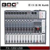 Série profissional de Bmg Fx 6/8/12/16 de console de mistura do misturador sadio das canaletas com acesso dobro do USB