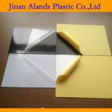 Double feuille adhésive latérale de PVC 1 millimètre