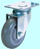 Mittlere Aufgabe örtlich festgelegte PU-Fußrolle für industrielles verwendet (Grau)