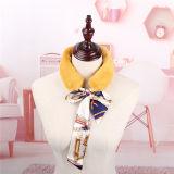 De nieuwe Stole van de Omslag van de Vrouwen Wintter van de Aankomst Elegante Sjaal van de Kraag van het Bont van de Mink van Faux van Sjaals met het Lint van de Zijde