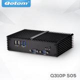Qotom-Q310p Barebone double LAN du système X86 Mini PC sans ventilateur