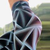 A fábrica vendas directas de novo a Impressão Digital elástica do quadril cintura elevada Perneiras Ioga Pants