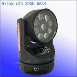 9X15W RGBW LED свет Zoom перемещения передних фар