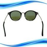 Espelho redondo PC Perna de Metal Lentes de óculos de protecção contra raios UV400