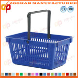 Portable haute qualité supermarché de Plastique Panier (Zhb63)