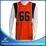 Su ordine e Sublimation Printing Basketball Shirt