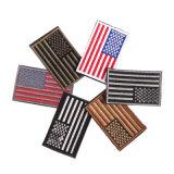 Barato por grosso EUA Pavilhão Patch bordados em ferro personalizados Bordados Patches Apoio Velcro