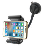 Soporte del teléfono inteligente de llamadas con manos libres Bluetooth el transmisor de FM Cargador de coche