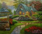 La reproduction de tableaux de l'huile Thomas Jardin Décoration maison