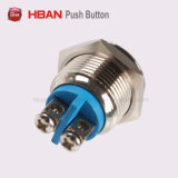 16mm High Round Metal Waterproof Screw Momentary Push Button Switch