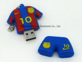 Мода силиконового герметика рубашки поло флэш-накопитель USB 4/8/16/32/64/128GB3.0&Football Sport диск USB