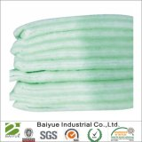 Filtro de poliéster verde y blanco guata