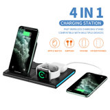 Draadloze oplader, 4 in 1 Qi-gecertificeerd Fast Wireless Charging Station voor Airpods/Apple Watch Series/iPhone 12/11/ PRO/ PRO Max/XS/XS Max/xr/8/8 Plus/SE, Samsung