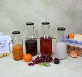Frasco de vidro de suco de 1,5 L com pega