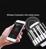 [بورتبل] 88 يلفّ مفاتيح مرنة فوق لوحة مفاتيح بيانو إلكترونيّة مع المتحدث