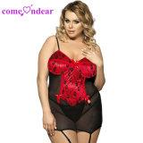 Plus la taille sur la vente de matières grasses Bustier Cupless Femmes montrant les mamelons de lingerie sexy