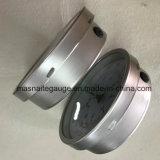 真鍮のケースおよびソケットの一つのバイオネットのリングの圧力計
