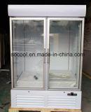 Surgelatore di vetro di verticale di alta qualità del Merchandiser del portello