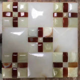 Onyx mosaïque colorée / linéaire mixte des bandes de dessin ou modèle de la mosaïque murale