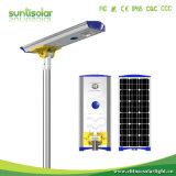 50W tous dans l'une LED intégrée Rue lumière solaire lampe eclairage extérieur