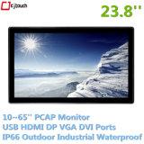 Écran LCD de 23,8 pouces Touchmonitor Publicité Player Openframe mur interactif tactile industriel étanche verre trempé de 3 mm