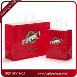 Les clients de Larissa ont personnalisé le sac de papier en gros/sac de papier de cadeau/sac de papier d'achats/le sac papier d'emballage