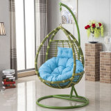 Oqo 옥외 등나무 그네 계란 의자/정원 그네 금속 옥외 안뜰 가구/옥외 계란 의자 D008